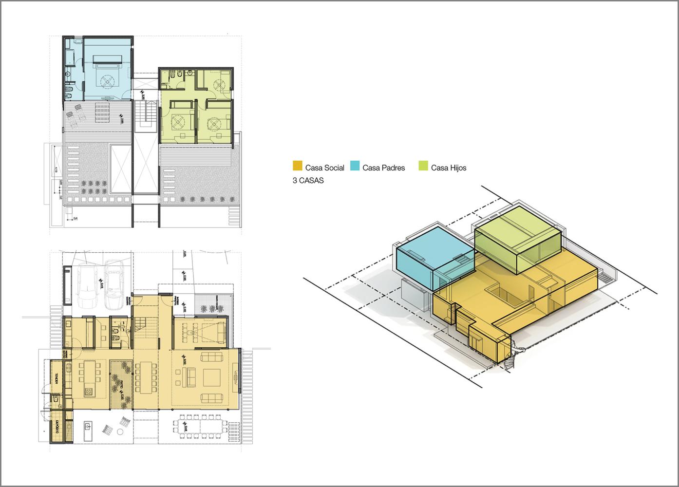 Esquemas funcionales: estrategias de organización programática en casas de Argentina,Casa 17x17 / Matías Imbern. Image