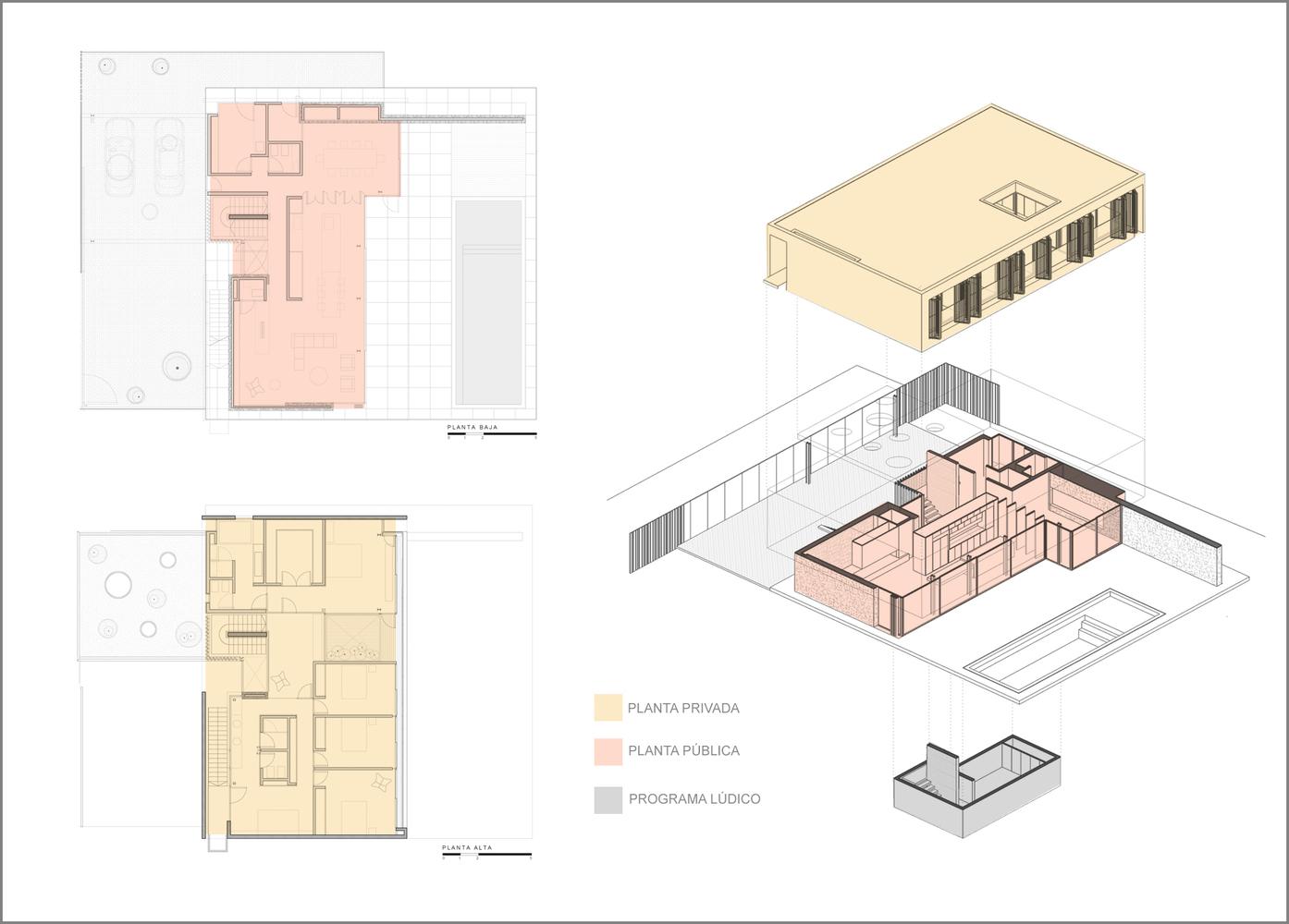 Esquemas funcionales: estrategias de organización programática en casas de Argentina,Casa AD / Estudio M3. Image