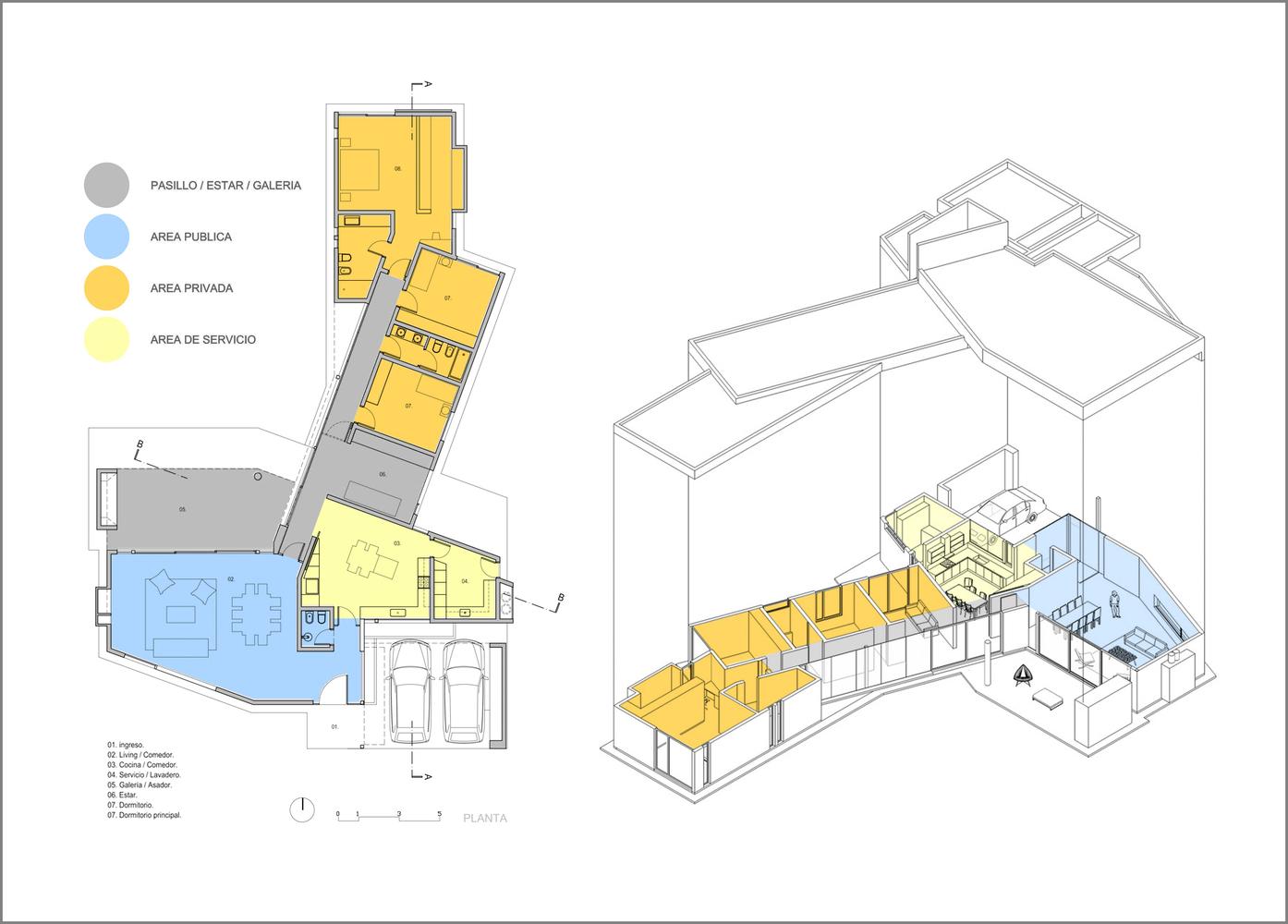 Esquemas funcionales: estrategias de organización programática en casas de Argentina,Casa en Cañuelas / Gastón Castellano. Image