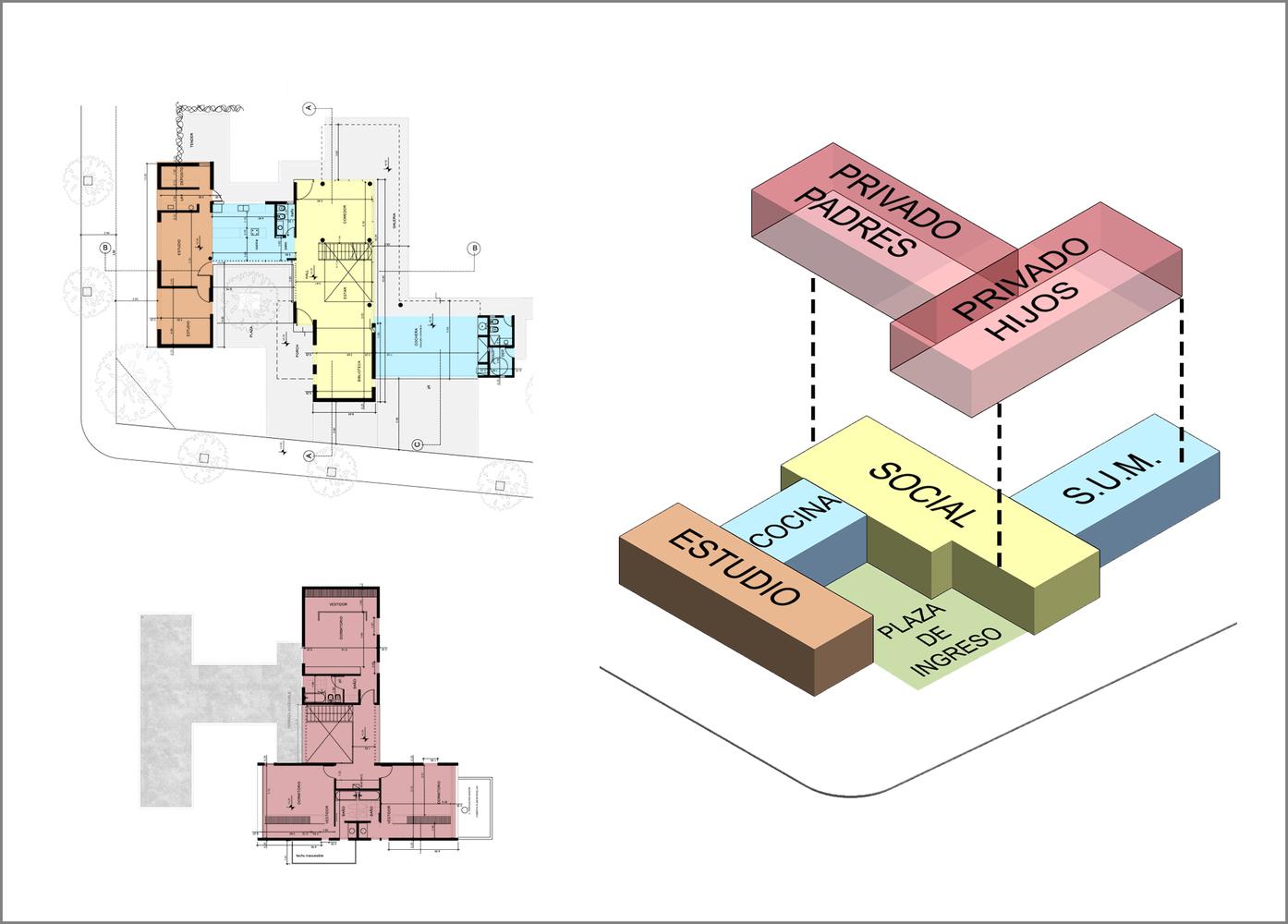 Esquemas funcionales: estrategias de organización programática en casas de Argentina,Casa en el Aire / APS - Pablo Senmartin. Image