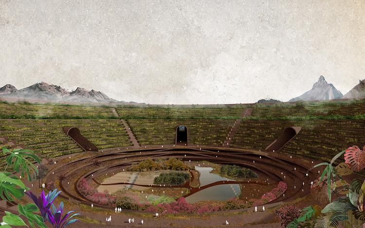 """Ganadores del Concurso TEMA 2020 """"Utopía de un ideal"""" por la Universidad de Guadalajara, """"Volver a la tierra"""". Image © Jorge Picvel"""