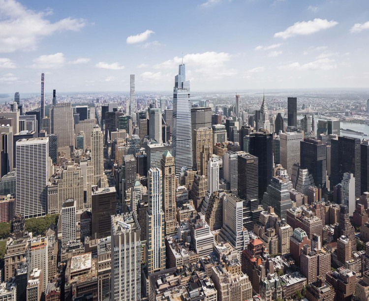 COVID-19 Contributed to Sharp Decline in Completed Skyscrapers in 2020, Kohn Pedersen Fox's One Vanderbilt in Midtown Manhattan ranked as the second tallest of the 106 skyscrapers completed globally in 2020. Image © Raimund Koch