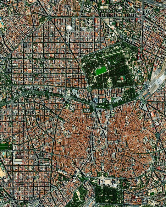 Madrid, Spain. Created by @dailyoverview. Source imagery: @maxartechnologies