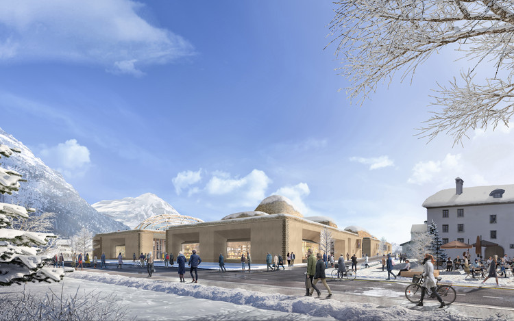 Foster + Partners projeta centro comunitário e de inovações nos Alpes suíços , Cortesia de Foster + Partners
