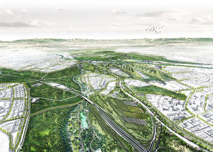 Conoce la propuesta de Estudio MMX para el Bosque Metropolitano de Madrid, © Estudio MMX