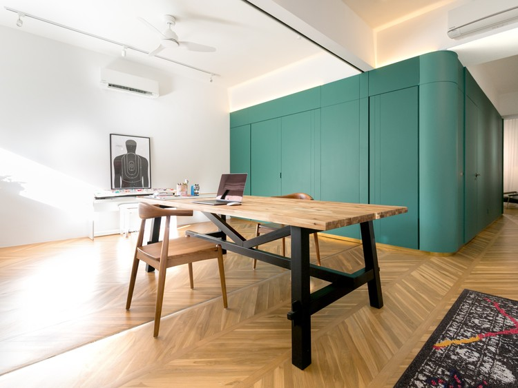 Apartamento Colors of My Life / WY-TO architects. Imagen © Frank Pinckers