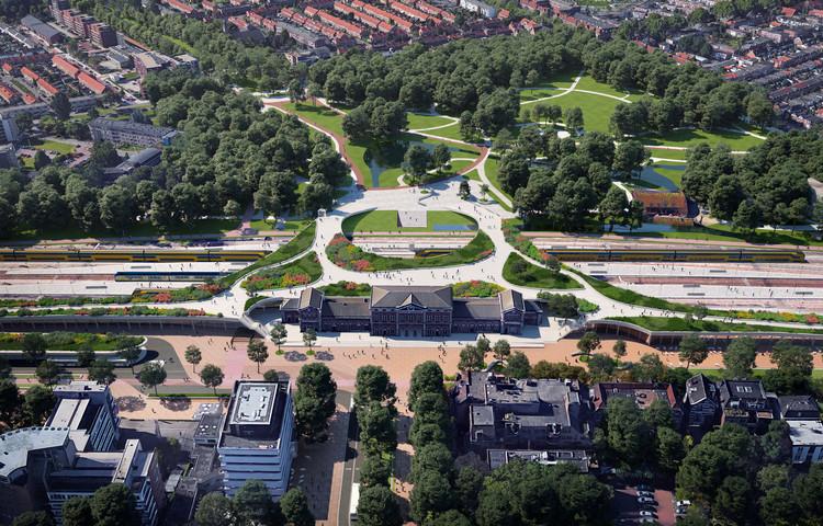 Mecanoo projeta parque em zona ferroviária da cidade mais antiga da Holanda, Cortesia de Mecanoo