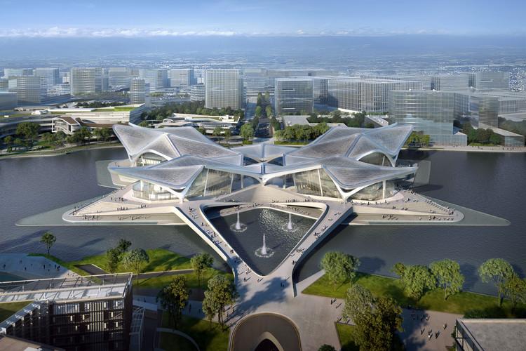 Zaha Hadid Architects Reveals Images of Zhuhai Jinwan Civic Art Centre, in China, Courtesy of Zaha Hadid Architects