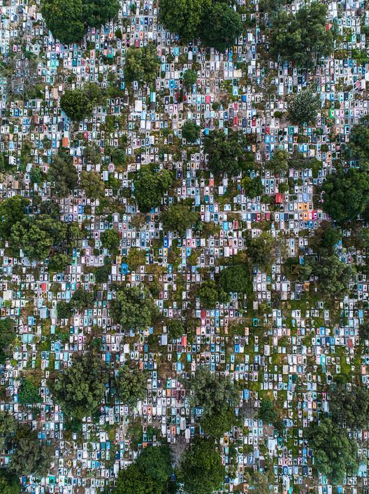 Panteón Civil San Nicolás Tolentino, Mexico City. Drone by @dronerobert