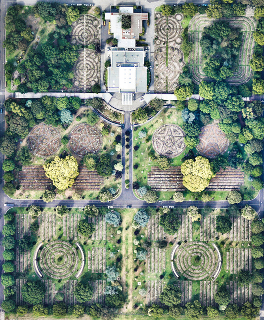 Springvale Botanical Cemetery, Victoria, Australia. Created by @dailyoverview, source imagery: @nearmap