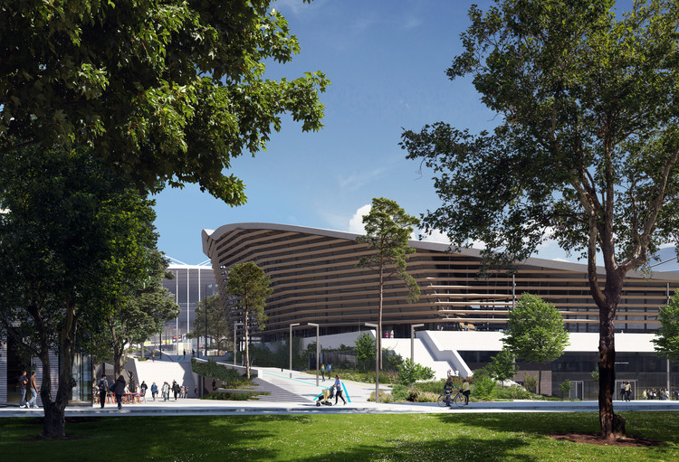 Aquatics Centre Paris 2024 / VenhoevenCS & Ateliers . Image Courtesy of Proloog