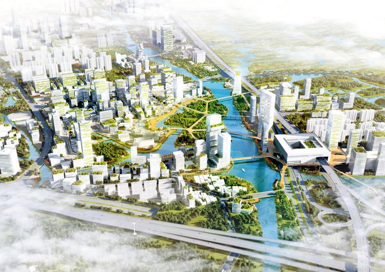 Ouhai district Wenzhou / VenhoevenCS. Image Courtesy of VenhoevenCS