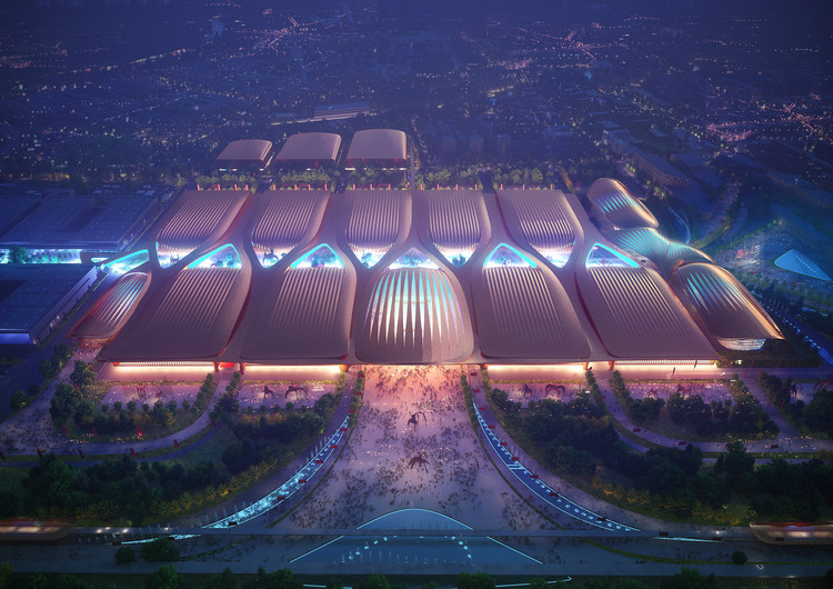 Zaha Hadid Architects vence concurso para a expansão do Centro Internacional de Exposições de Pequim, Cortesia de Zaha Hadid Architects