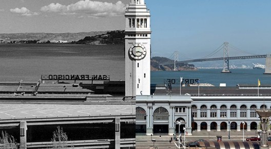 The Embarcadero, in San Francisco, before/after rebuilding in the 90s. Image © CNU
