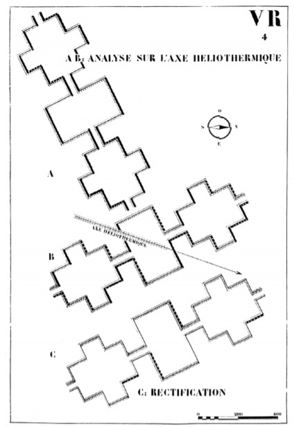 The diagrammatic plan of the Radiant City.. Image Courtesy of Le Corbusier, 1922
