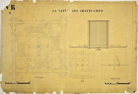 The landscape plan in the Radiant City.. Image Courtesy of LE CORBUSIER FOUNDATION