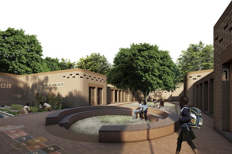 Arquitectos de Colombia ganadores del concurso Escuela Primaria en Senegal: Sambou Toura Drame, Cortesía de Santiago Osorio, Carlos Peña y Mauricio Suarez