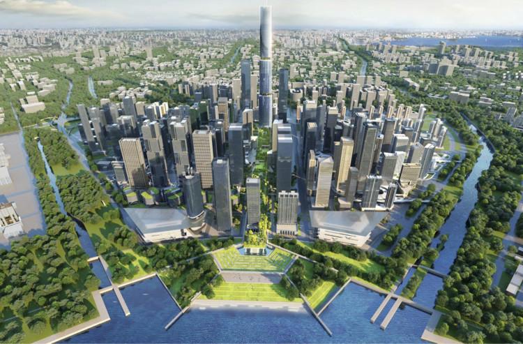 Urban Design Schematics of Qianhai Urban Living Room