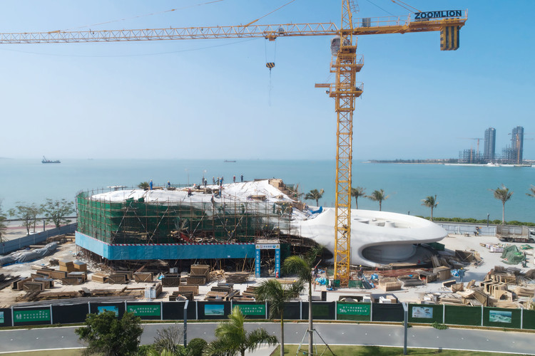 MAD Architects' Wormhole Library Tops Out in Haikou, China, Courtesy of MAD