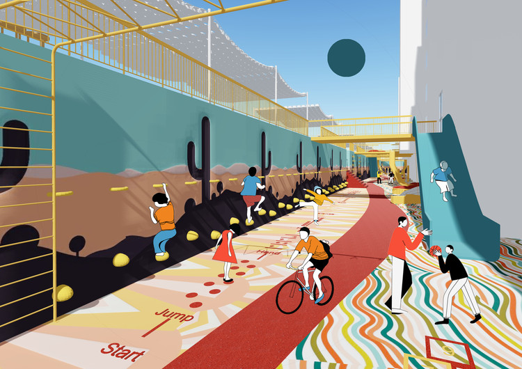 A Social Distancing Plaza in the Netherlands and a City without Cars in Italy: 10 Unbuilt Projects Submitted to ArchDaily, FOUN'TA'SY. Image Courtesy of Public Housing Enterprise J.S.C