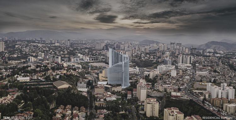 TEN Arquitectos: 8 proyectos en proceso este 2021, Residencial Elipsum. Image © TEN Arquitectos