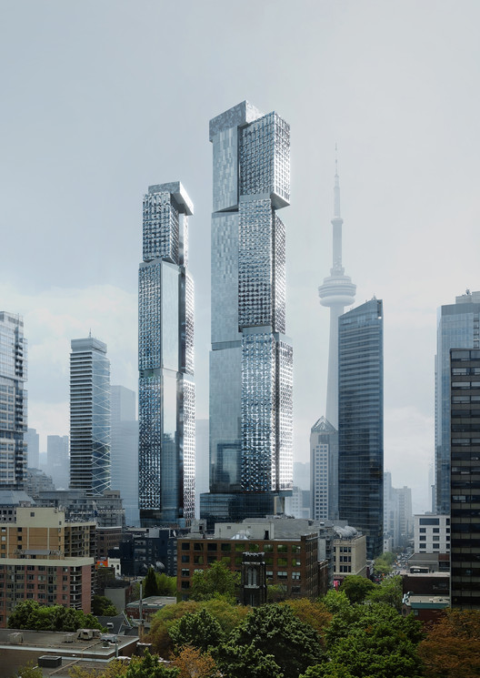 New Renderings Reveal the Tallest Frank Gehry-Designed Building in the World, part of the King Street West Project in Toronto, Courtesy of Gehry Partners, LLP