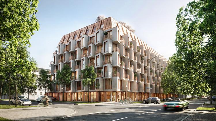 UNStudio Introduces New Flexible Urban Living Concept in the Van B Residences in Munich, © bloomimages courtesy of UNStudio and Bauwerk