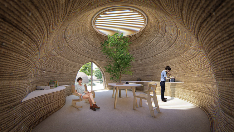 TECLA, 3D Printed Habitat by WASP and Mario Cucinella Architects. Image Cortesía de WASP