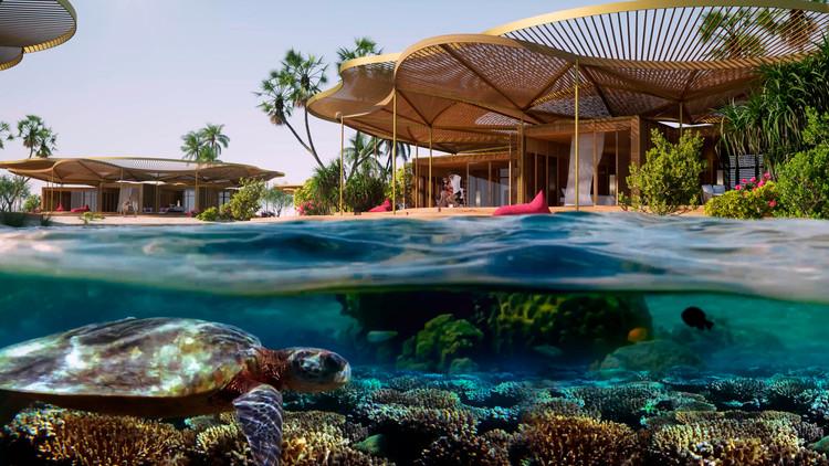 Foster + Partners projeta resort ecológico no Mar Vermelho, Courtesy of Foster + Partners