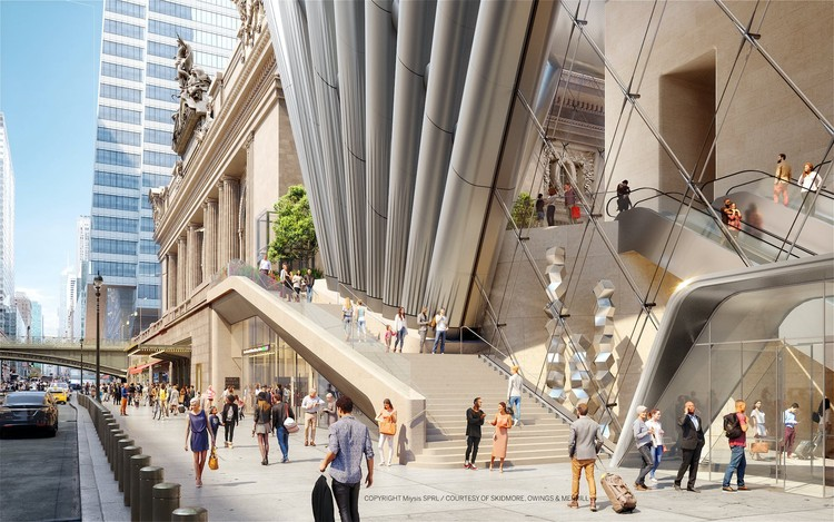 SOM Designs 1,600-foot Skyscraper Next to Grand Central, Courtesy of SOM