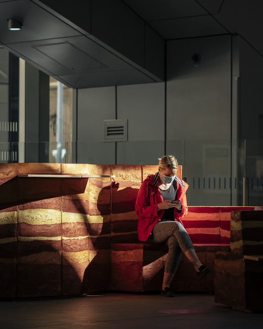 Local Collective Imagines Seating Made from Clay for London's Railway Station