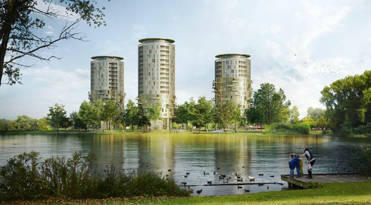 KCAP Designs Three Round Towers for the Netherlands