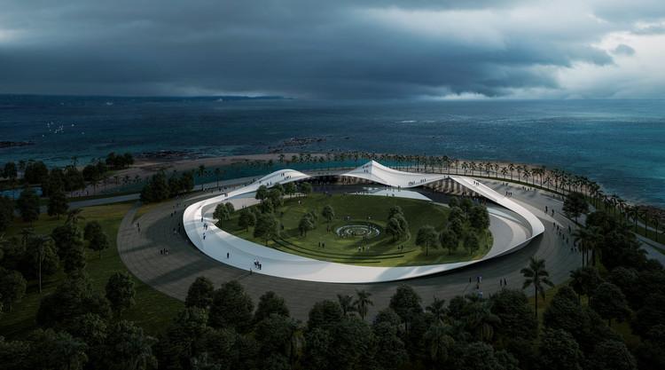 Sou Fujimoto presenta imágenes del nuevo pabellón público para el paseo marítimo de Haikou en China, Sou Fujimoto. Imagen cortesía de Sou Fujimoto Architects