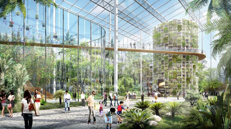 La arquitectura puede contribuir a proporcionar alimentos de mejor calidad, Sasaki presenta el proyecto de granja urbana de Shanghai © Sasaki