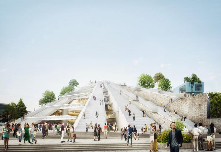 Comienza la construcción del proyecto de MVRDV para la pirámide de Tirana en Albania, Cortesía de MVRDV