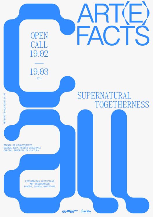 Art(e)facts 2021: Supernatural Togetherness abre candidaturas para duas residências artísticas, cartaz do call_design and atelier