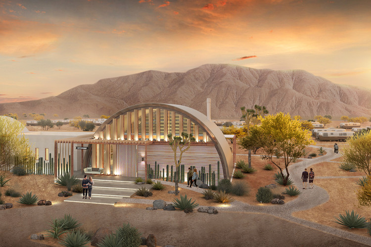 HKS Unveils New AutoCamps in Joshua Tree and Zion, Courtesy of HKS Architects