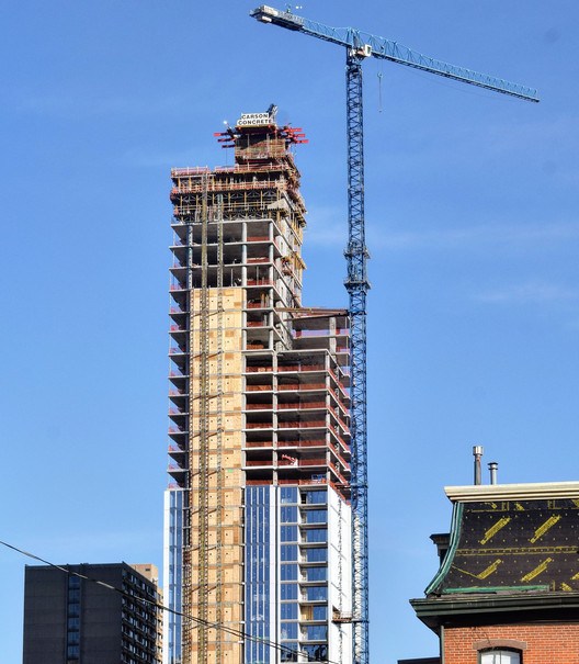 Arthaus, KPF's First Residential Tower in Philadelphia, Tops Out, © Thomas Koloski
