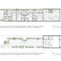 01 Time House plan - Time House nhà diện tích 8,4x56m Không gian xanh là vùng đệm nhằm ngăn tiếng ồn và khói bụi.