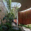 23 Times House - Time House nhà diện tích 8,4x56m Không gian xanh là vùng đệm nhằm ngăn tiếng ồn và khói bụi.