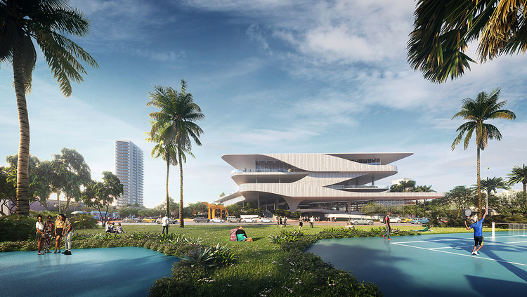 Brooks + Scarpa Reveals Proposal for Miami's Aquatic Center and Park, Courtesy of Brooks + Scarpa