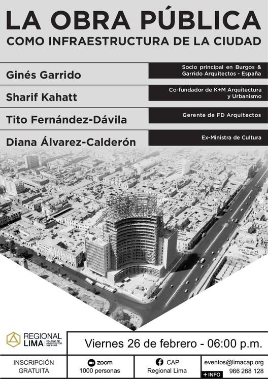 Conversatorio: La obra pública como infraestructura de la ciudad, CAP Regional Lima