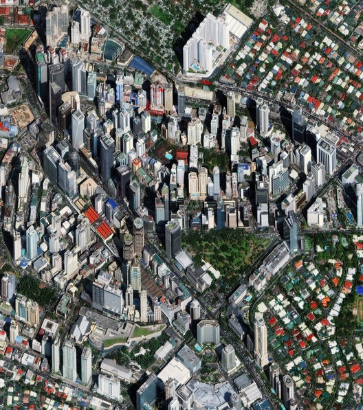 Makati City, Manila, Philippines.  Created by @dailyoverview