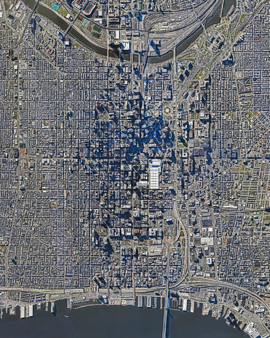 Philadelphia, United States.  Created by @dailyoverview, images source: nearmap