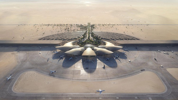 Red Sea International Airport by Foster + Partners Under Construction in Saudi Arabia, Courtesy of Foster + Partners