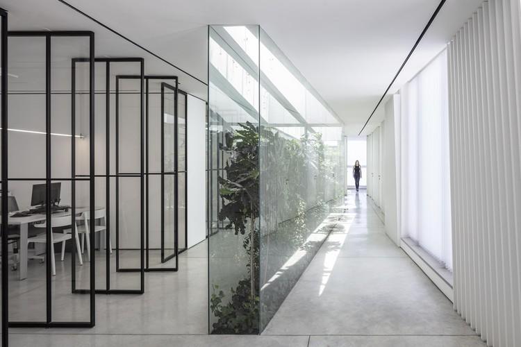 Aberturas zenitais: iluminação e ventilação nos interiores, The Patio Office / Tal Goldsmith Fish Design Studio. Foto: © Amit Geron