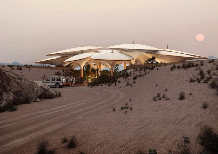 Foster + Partners Designs Saudi Arabian Hotel in Sand Dunes, Courtesy of Foster + Partners