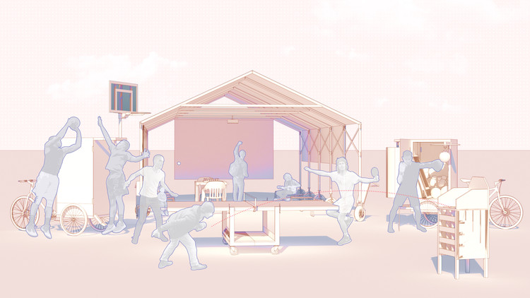 Jugarmario, Ciclaportivas y Carpamóvil: Artefactos de urbanismo táctico para activar la convivencia, Cortesía de Tr3s Estudio
