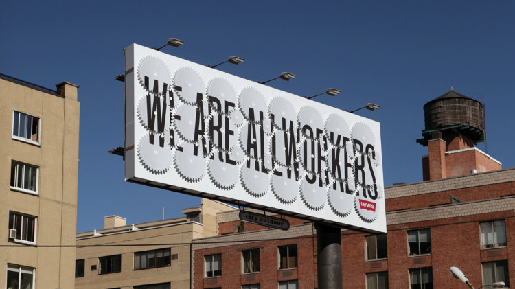 Stefan Sagmeister on Beauty as Function in Design and the City Podcast, Stefan Sagmeister - Levi's Billboard. Image Courtesy of reSITE