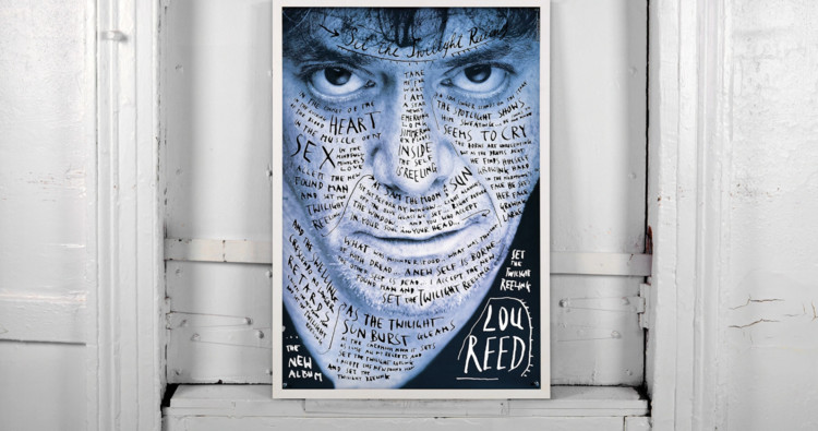 Stefan Sagmeister - Lou Reed Poster . Image Courtesy of reSITE